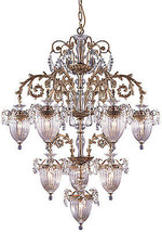 Vintage Style Rose O' Grady's Crystal Chandelier 41'' D X 52'''H. - $1,831.50