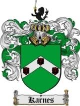Karnes Family Crest / Coat of Arms JPG or PDF Image Download - $6.99
