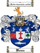 Keen Family Crest / Coat of Arms JPG or PDF Image Download - $6.99
