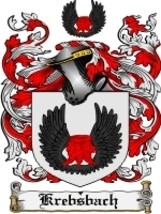Krebsbach Family Crest / Coat of Arms JPG or PDF Image Download - $6.99