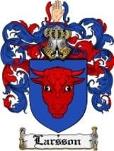 Larsson Family Crest / Coat of Arms JPG or PDF Image Download - $6.99