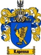 Lapenna Family Crest / Coat of Arms JPG or PDF Image Download - $6.99