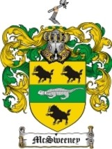 Mcsweeney Family Crest / Coat of Arms JPG or PDF Image Download - $6.99