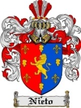 Nieto Family Crest / Coat of Arms JPG or PDF Image Download - $6.99