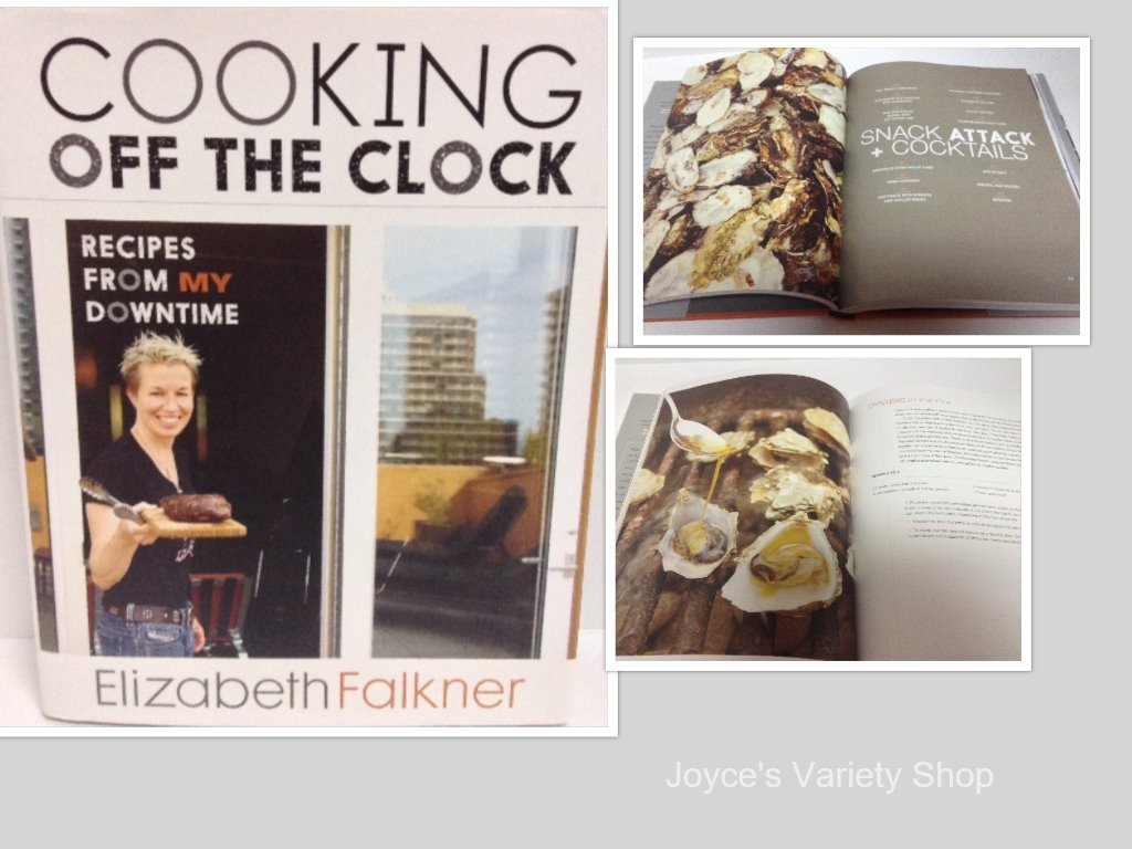 Cooking off the clock book collage