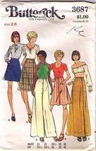 1970's SKIRTS Pattern 3687-b Size 28 Waist - UNCUT - $10.69