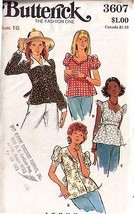 1970'sTOPS/BLOUSES Pattern 3607-b Size 16 - Complete - $9.99
