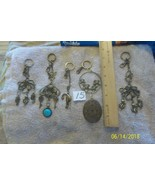# purse jewelry bronze color keychain backpack dangle charms #15 lot of 5 - $8.55