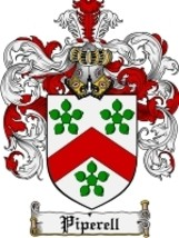 Piperell Family Crest / Coat of Arms JPG or PDF Image Download - $6.99