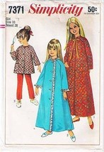 1967 ROBE-TOP-PANTS Pattern 7371-s Girl Size 10 - UNCUT - $10.69