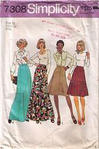 1975 SKIRTS Pattern 7308-s Size 16 - UNCUT - $12.59