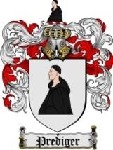 Prediger Family Crest / Coat of Arms JPG or PDF Image Download - $6.99