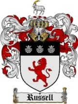 Russell Family Crest / Coat of Arms JPG or PDF Image Download - $6.99