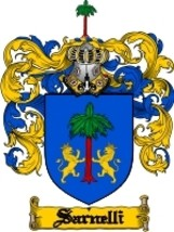 Sarnelli Family Crest / Coat of Arms JPG or PDF Image Download - $6.99