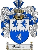 Scanlan Family Crest / Coat of Arms JPG or PDF Image Download - $6.99