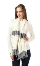 Cream White Matte Weave Scarf NEW