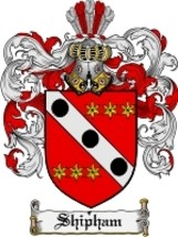 Shipham Family Crest / Coat of Arms JPG or PDF Image Download - $6.99