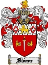 Sloane Family Crest / Coat of Arms JPG or PDF Image Download - $6.99