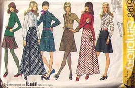 1972 SKIRTS Pattern 5196-s Size 12 - Complete - $9.99