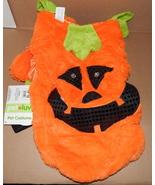 "Halloween Pet Costume Pumpkin Light Up Eyes L Fits 18"" To 21"" Dog Belly ... - $9.86"