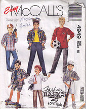 1988 BOYS SHIRT-TOP-PANTS-SHORTS Pattern 4949-m Size 10 - $12.59