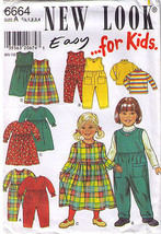 1990's DRESS-TOP-ROMPER Pattern 6664-nl - Toddler Multi-Size - UNCUT - $12.59