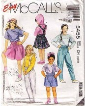 1991 TOPS-SKIRT-PANTS-SHORTS-SUSPENDERS Pattern 5455-m - size 7,8,10 - $9.99