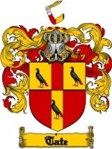 Tate Family Crest / Coat of Arms JPG or PDF Image Download - $6.99