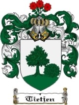 Tietjen Family Crest / Coat of Arms JPG or PDF Image Download - $6.99