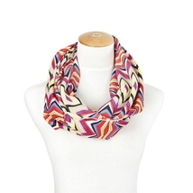 Lexi Unique new chevron and diamond style red tones infinity scarf