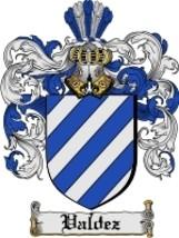 Valdez Family Crest / Coat of Arms JPG or PDF Image Download - $6.99