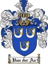 Van'Der'Aa Family Crest / Coat of Arms JPG or PDF Image Download - $6.99