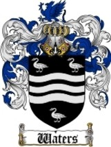 Waters Family Crest / Coat of Arms JPG or PDF Image Download - $6.99