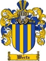 Wertz Family Crest / Coat of Arms JPG or PDF Image Download - $6.99