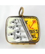 Limoges Box - Half Open Sardine Tin with Sardin... - $105.00