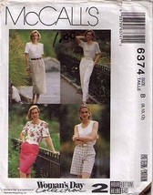 1993 Skirts, Pants & Shorts Pattern 6374-m Sizes 8-10-12 UNCUT - $12.59