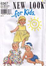 1995 DRESS-HAT-PANTS Pattern 6367-nl  Toddler Sizes S-M-L - $12.59