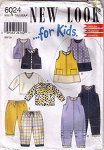 DRESS-TOPS-PANTS-JUMPER Pattern 6024-nl TODDLER Sizes 1/2, 1,2,3,4 - $10.69