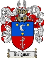 Primary image for Brigman Family Crest / Coat of Arms JPG or PDF Image Download