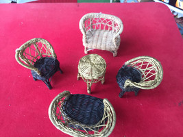 Vintage Wicker Doll Furniture - $22.00