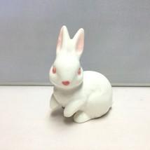 Vintage Napco White Easter Bunny Pink Eyes Figu... - $7.79