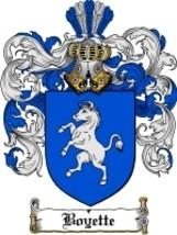 Boyette Family Crest / Coat of Arms JPG or PDF Image Download - $6.99