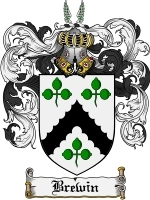 Primary image for Brewin Family Crest / Coat of Arms JPG or PDF Image Download
