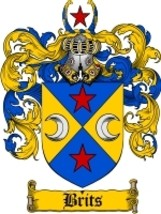 Brits Family Crest / Coat of Arms JPG or PDF Image Download - $6.99