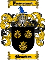 Primary image for Brookes Family Crest / Coat of Arms JPG or PDF Image Download
