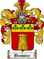 Primary image for Brossier Family Crest / Coat of Arms JPG or PDF Image Download
