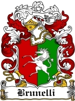 Primary image for Brunelli Family Crest / Coat of Arms JPG or PDF Image Download
