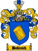Primary image for Bubenick Family Crest / Coat of Arms JPG or PDF Image Download