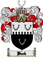 Primary image for Buck Family Crest / Coat of Arms JPG or PDF Image Download