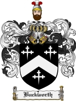 Primary image for Buckworth Family Crest / Coat of Arms JPG or PDF Image Download